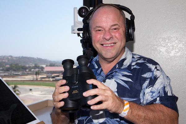 Larry Collmus Del Mar | Benoit Photo