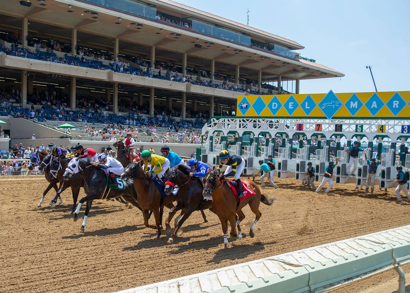 Del Mar Opening Day First Race | Benoit Photo