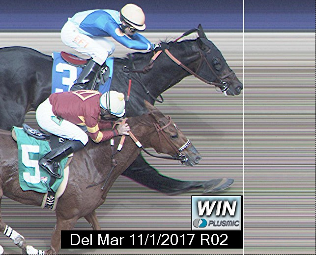 Photo finish for Nov 1, 2017 2, 1st place