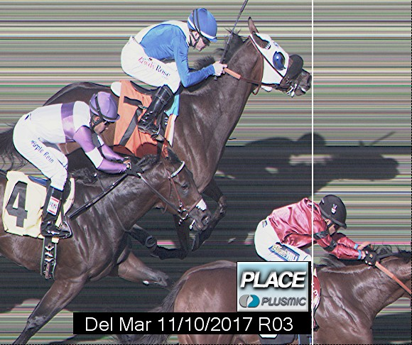 Photo finish for Nov 10, 2017 3, 2nd place