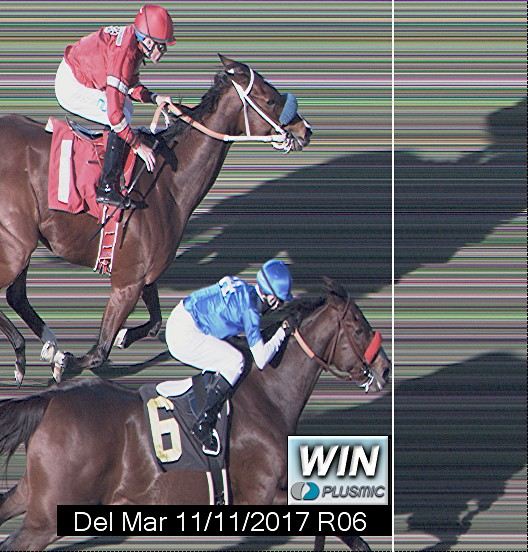 Photo finish for Nov 11, 2017 6, 1st place