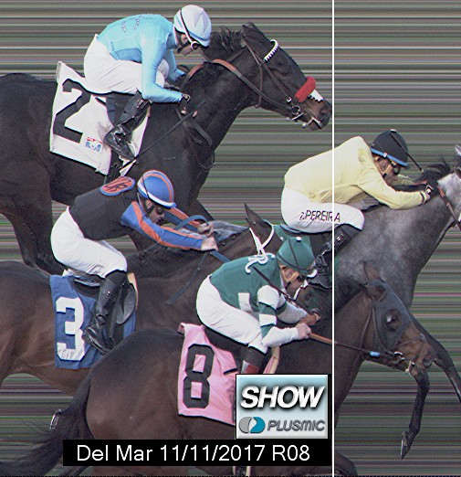 Photo finish for Nov 11, 2017 8, 1st place