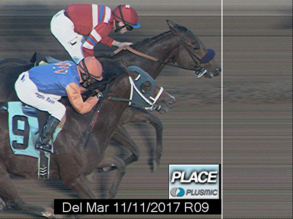 Photo finish for Nov 11, 2017 9, 2nd place