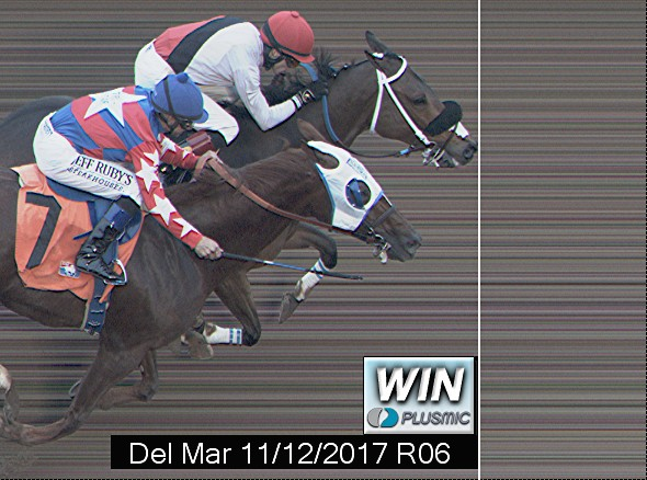 Photo finish for Nov 12, 2017 6, 1st place