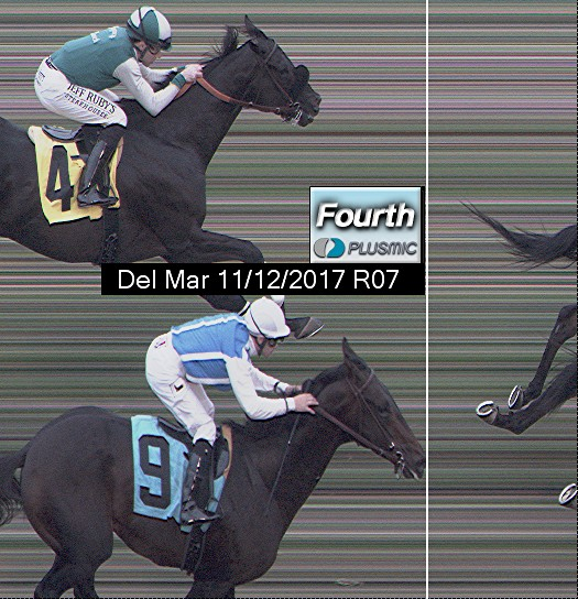 Photo finish for Nov 12, 2017 7, 4th place