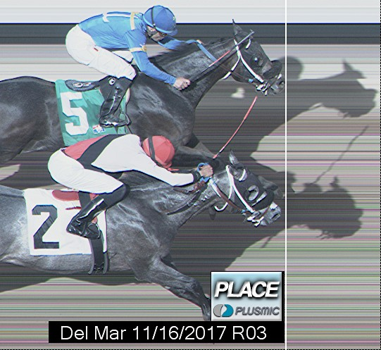 Photo finish for Nov 16, 2017 3, 2nd place