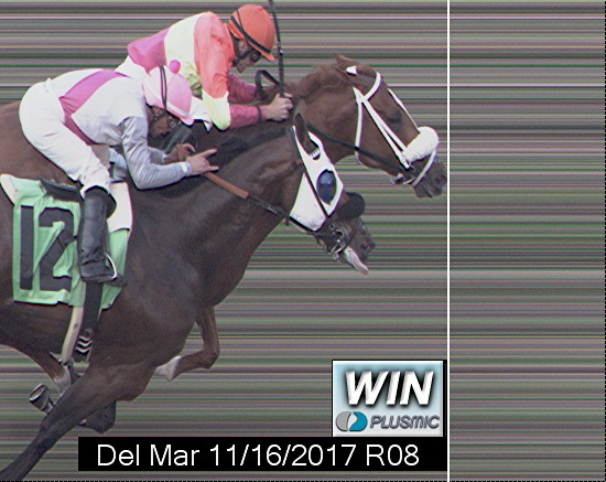 Photo finish for Nov 16, 2017 8, 1st place