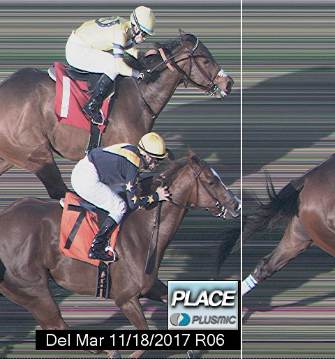 Photo finish for Nov 18, 2017 6, 2nd place