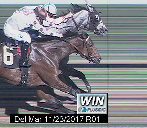 Photo finish for Nov 23, 2017 1, 1st place