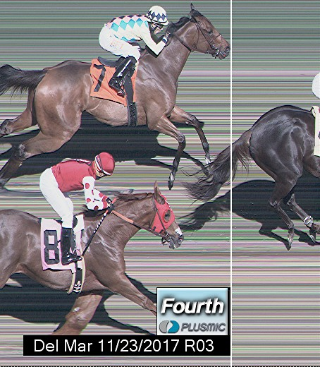 Photo finish for Nov 23, 2017 3, 4th place
