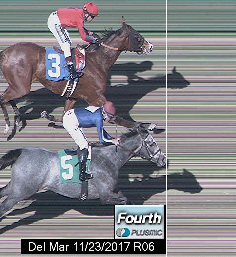 Photo finish for Nov 23, 2017 6, 4th place