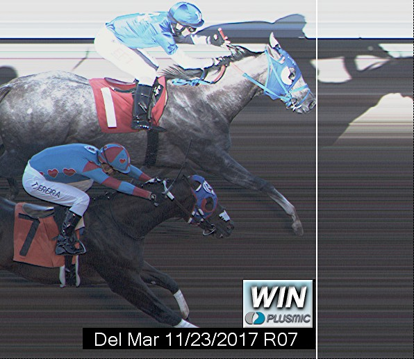 Photo finish for Nov 23, 2017 7, 1st place