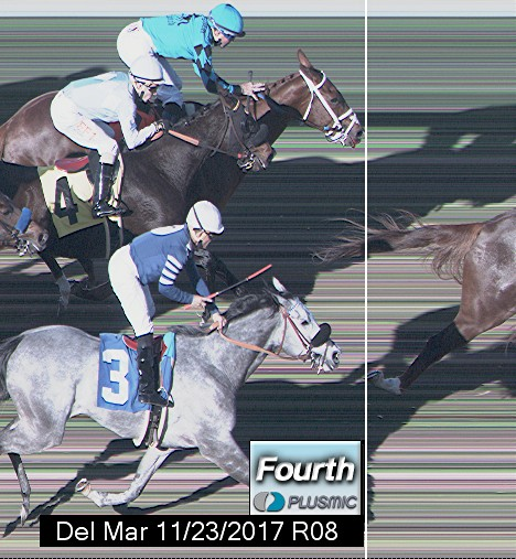 Photo finish for Nov 23, 2017 8, 4th place