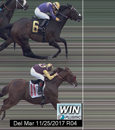 Photo finish for Nov 25, 2017 4, 1st place