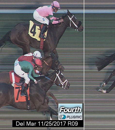 Photo finish for Nov 25, 2017 9, 4th place