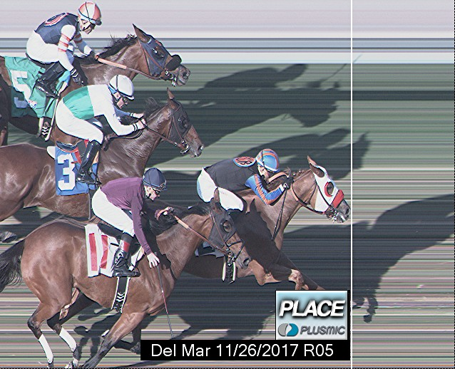 Photo finish for Nov 26, 2017 5, 2nd place