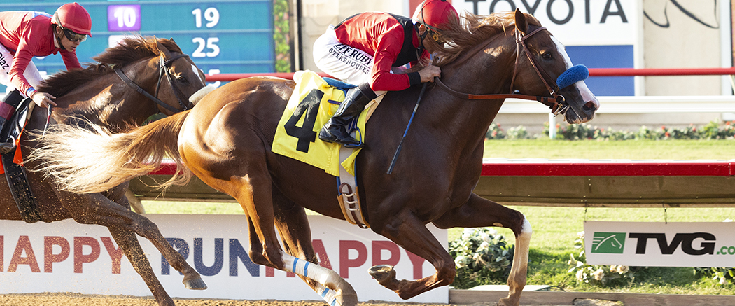 Photo of Improbable Faces King Jack in Shared Belief Stakes