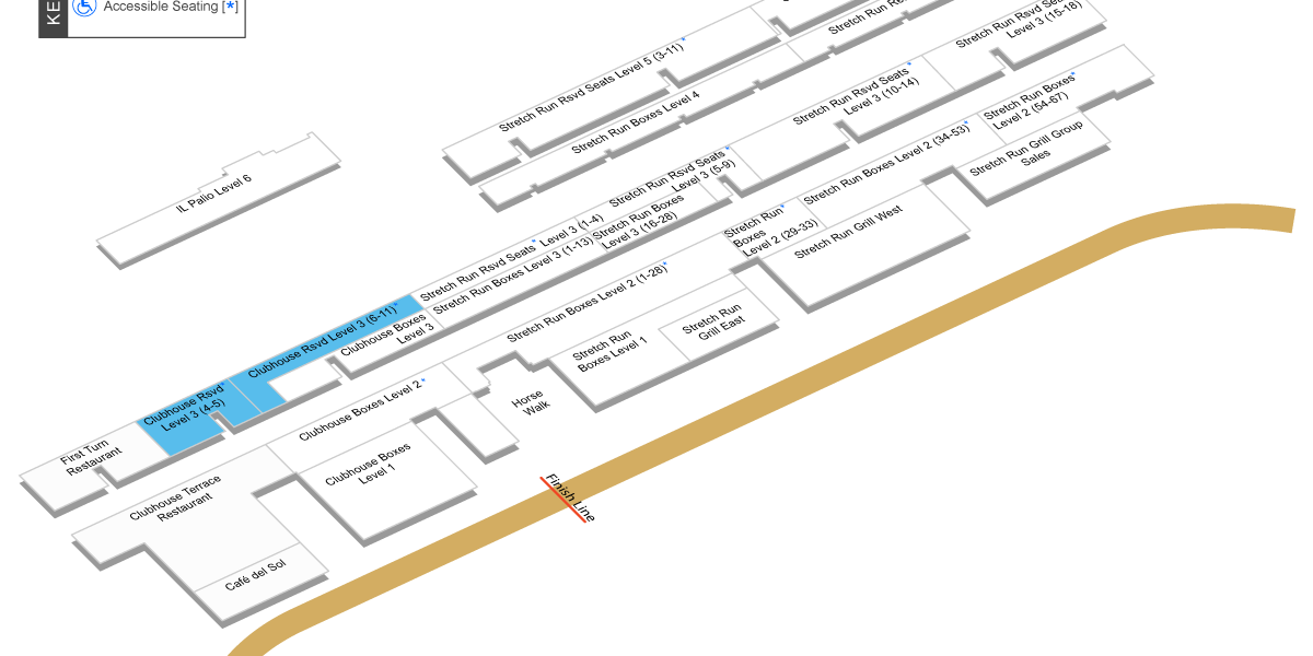 Clubhouse Grandstand Map