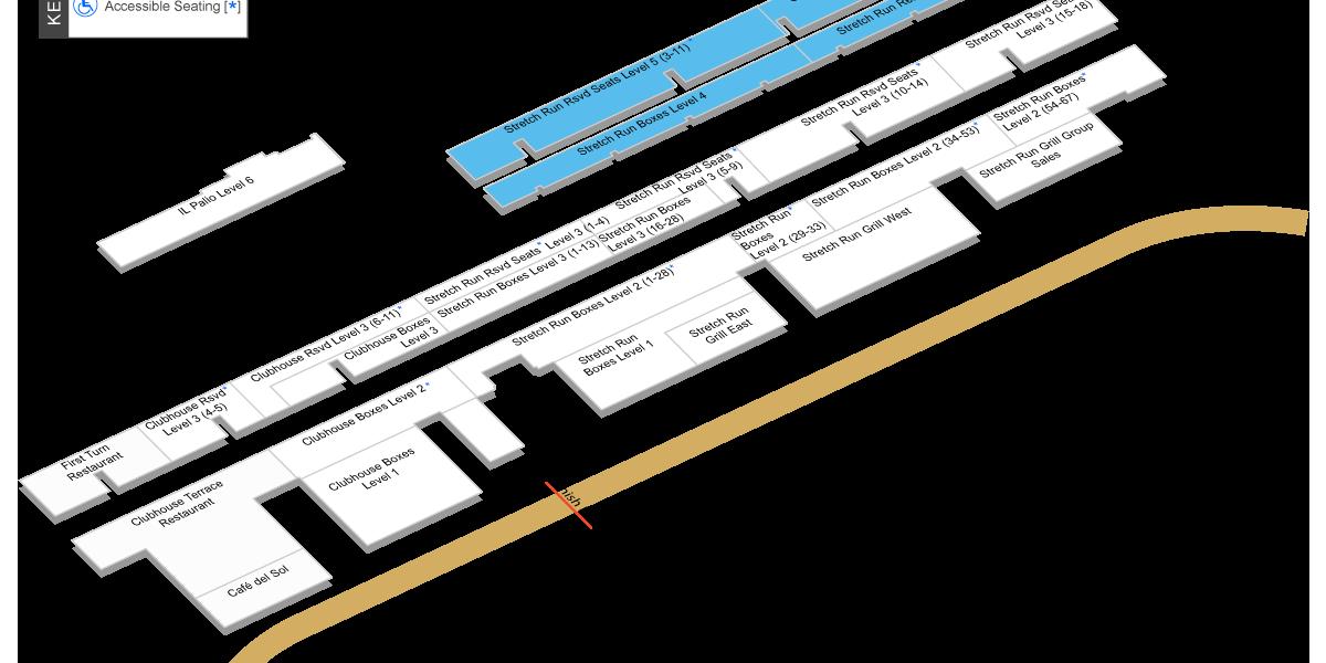 Stretch Run Grandstand Level 4-5 Map