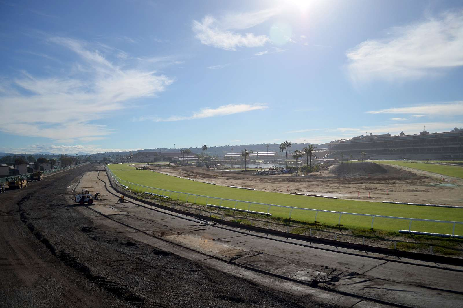 Photo of Work Toward Del Mar's New Dirt Track Moves Steadily Along