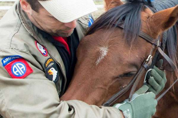 Photo of 'Down the Stretch' Bond Between Horses, Vets a Win for Both