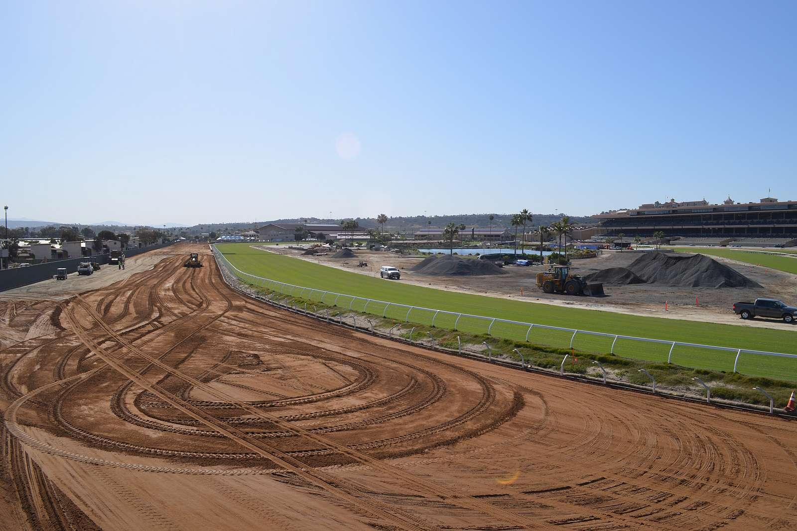 Photo of Del Mar's Main Track Renovation Nears Finish