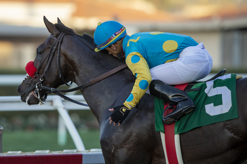 Photo of Bob and Jackie Wins Let It Ride Stakes
