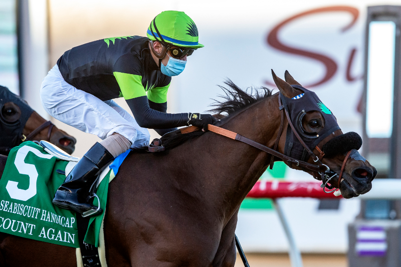Photo of Count Again Rolls Late Saturday to Score in Del Mar's Seabiscuit